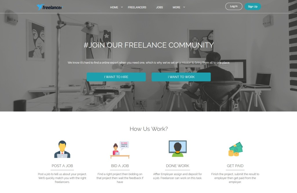 Freelance WordPress Theme