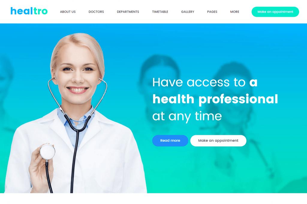 Healtro - Health Care Services WordPress Theme