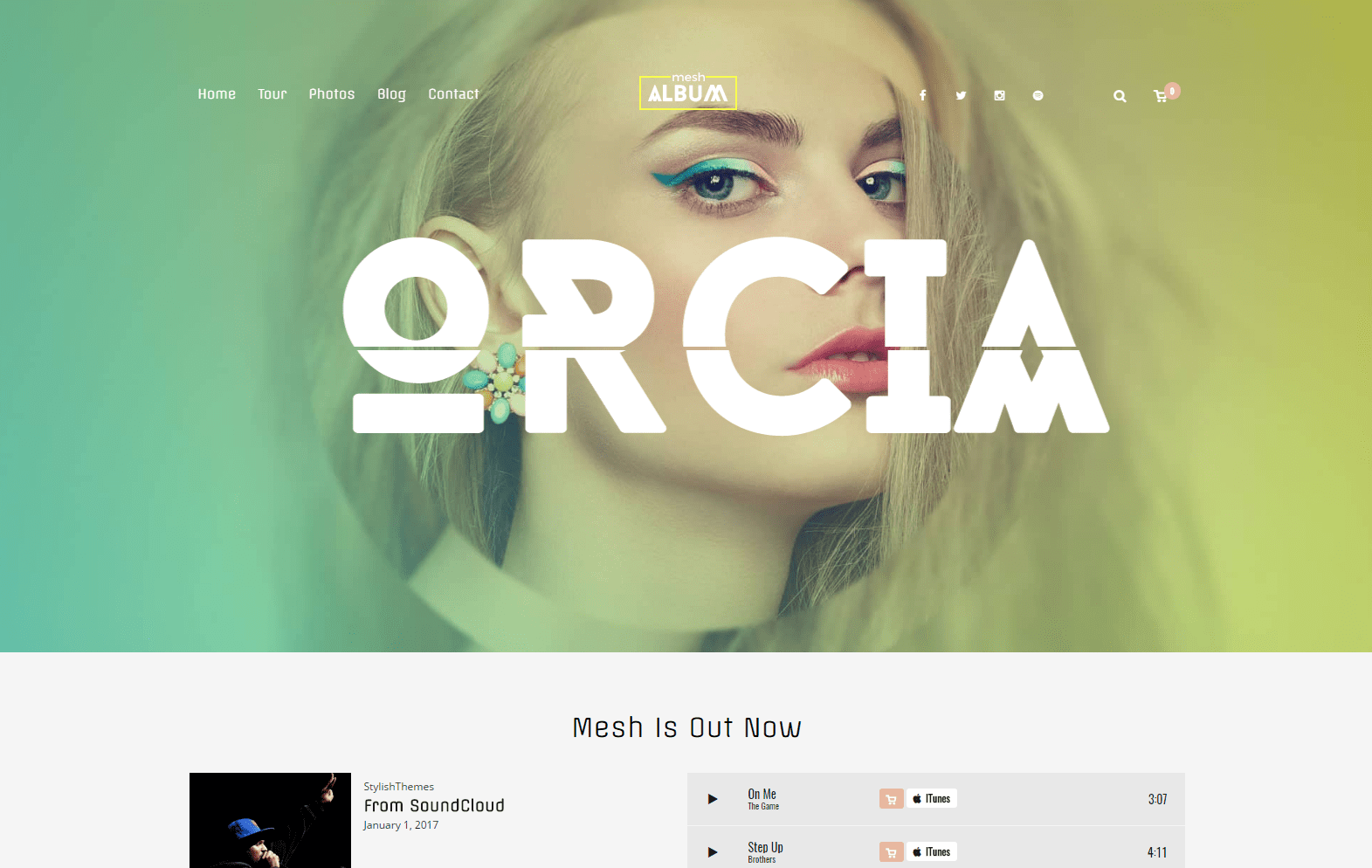 MESH - Music, Band, Musician, Club WordPress Theme