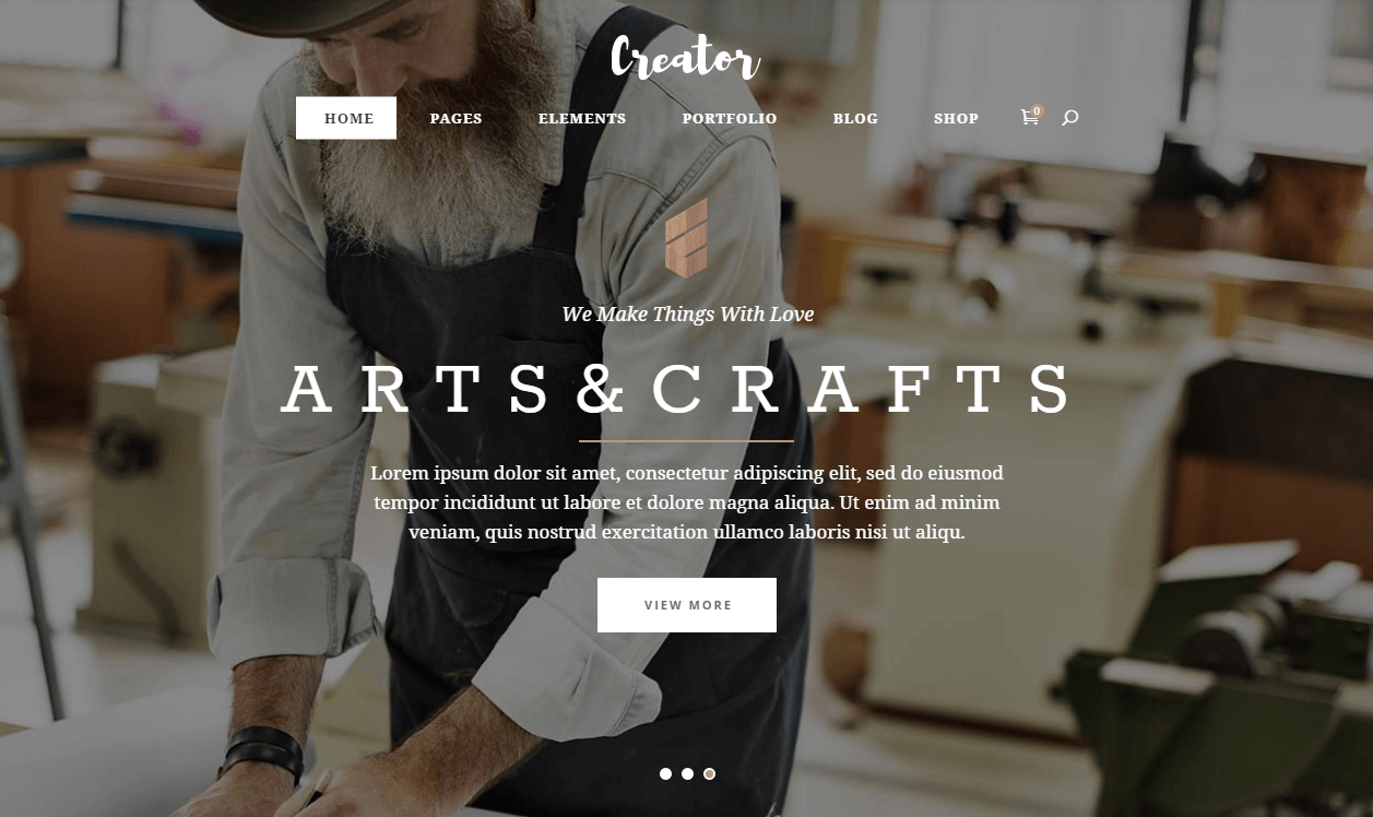 Craft WordPress Theme