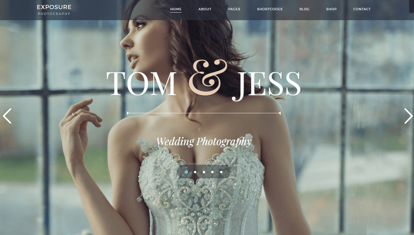 Wedding Shoot WordPress Theme