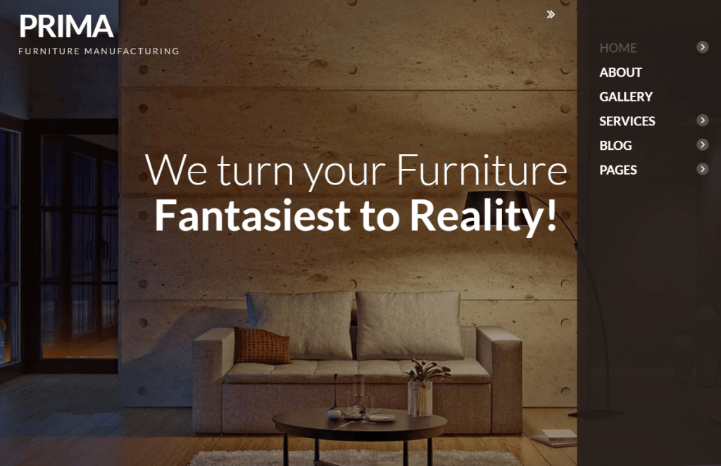 Furniture Manufacturing WordPress Theme