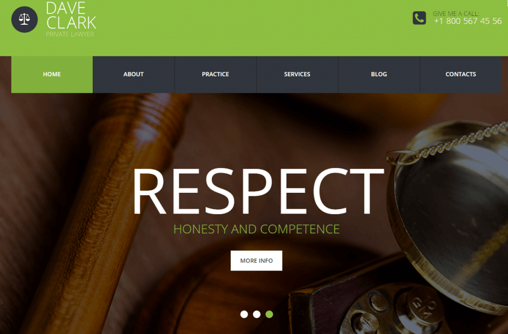 Private Lawyer WordPress Theme