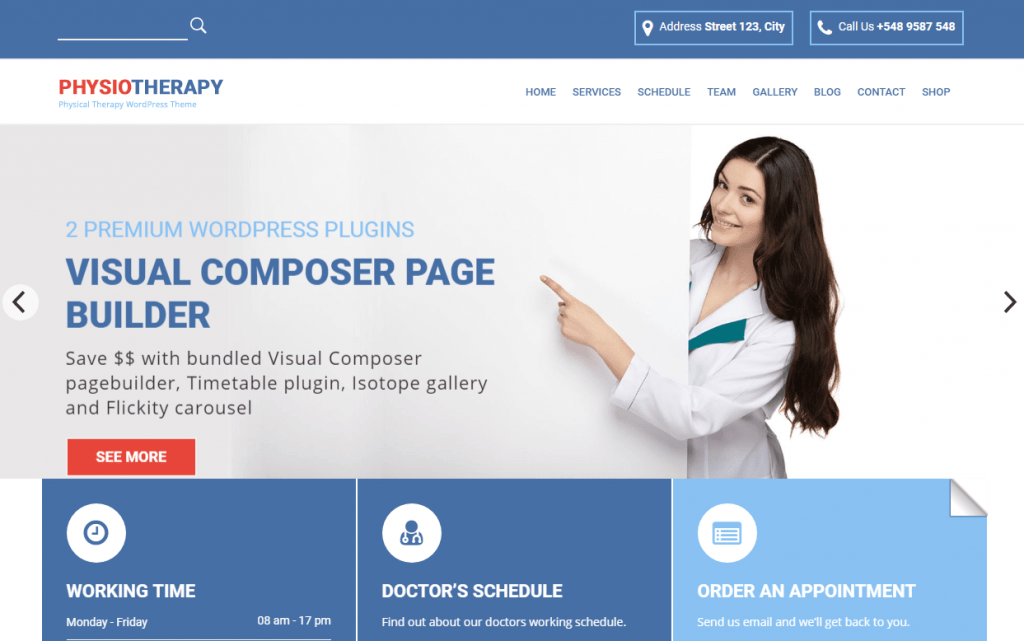 Physical Therapist & Chiropractor WordPress Theme