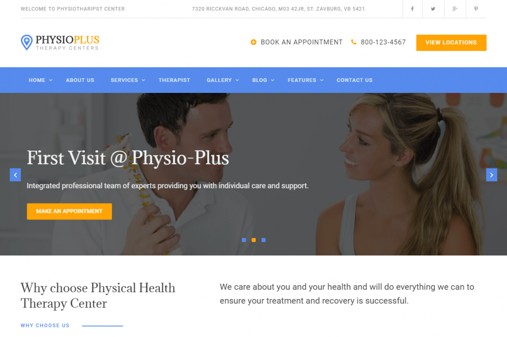 Practical WordPress Theme For Physiotherapy Clinics