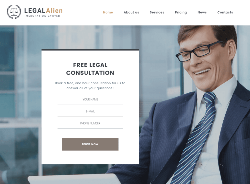 WordPress Theme for Immigration Lawyers