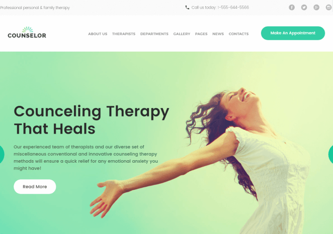 Responsive WordPress Theme For Therapy Counselling Center