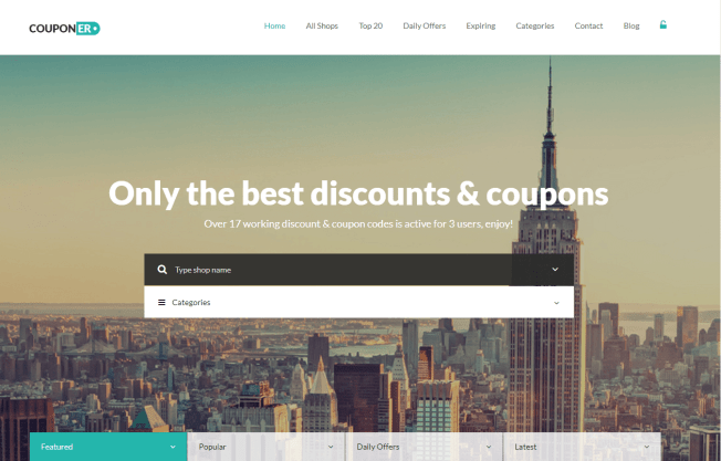 Discounts  and Deals WordPress Theme