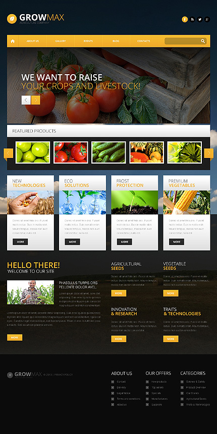 Farming Industry WordPress Theme