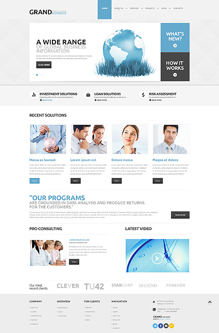 Financial Company WordPress Theme