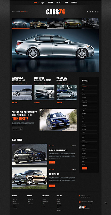 Car Dealer Responsive WordPress Theme
