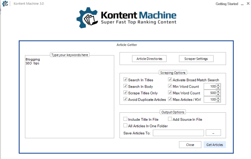 Kontent Machine Review - 3 article getter