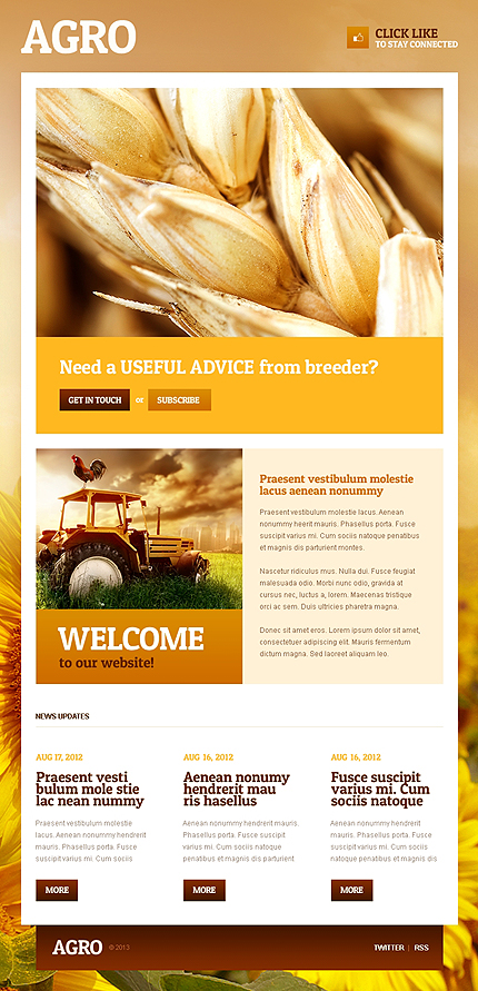 Agriculture Facebook Template (2)