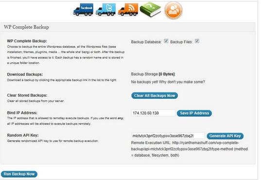 WP Complete Backup WordPress Plugins