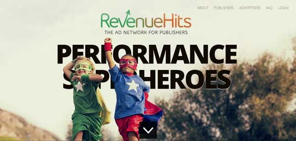 RevenueHits ad network Google Adsense Alternatives for Bloggers