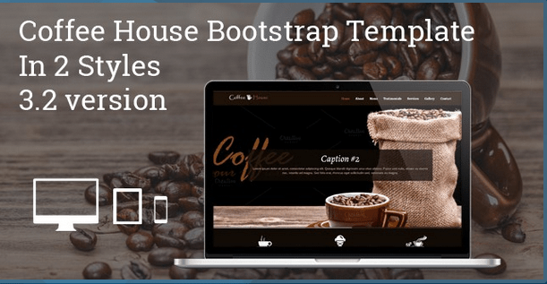 Coffee House One Page Bootstrap Template HTML Bootstrap Template BootstrapBay