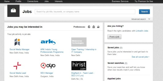 Jobs Home LinkedIn