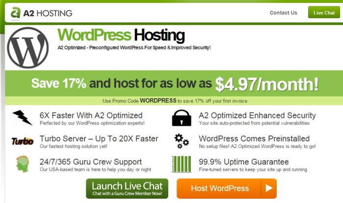 6X Faster WordPress Hosting From A2 Hosting