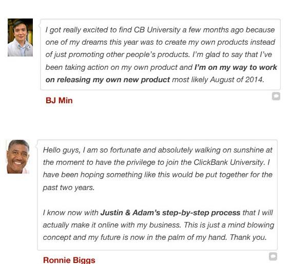 Clickbank University Review Testimonials 2