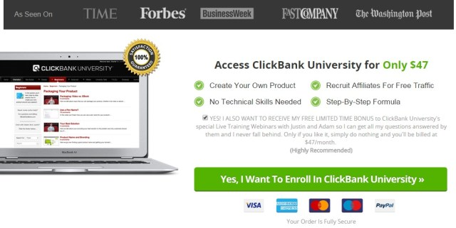 Did you Joined Clickbank University The Secret Millionaires Bank