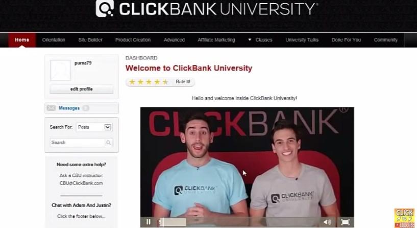 clickbank university review member areas