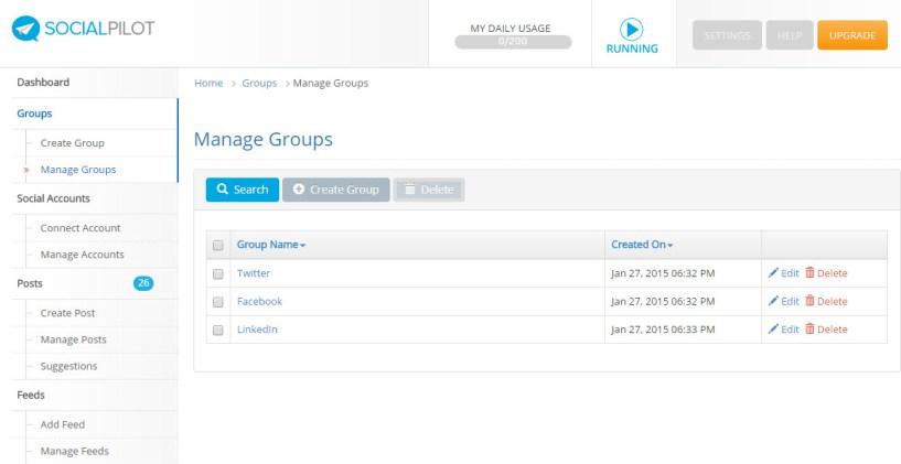 manage social media groups