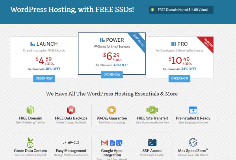 InMotion Hosting WordPress Hosting