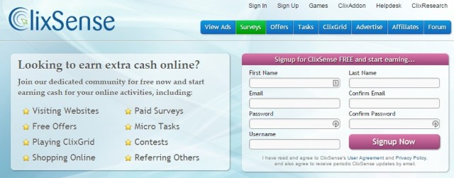 clixsense Make Money Online from Home