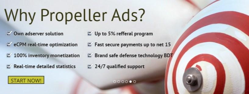 propellerads ad network review - better adsense alternative