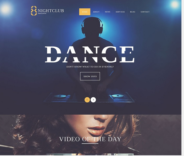 Club Life WordPress Template