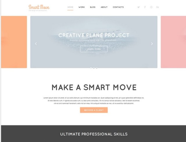 Designer Portfolio WordPress Template