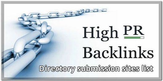 Free High PR Directories Submission Sites List