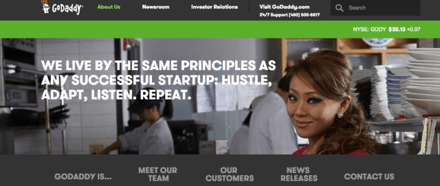 GoDaddy Team and about their company