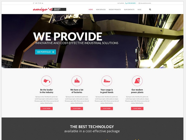 Industrial Business WordPress Website