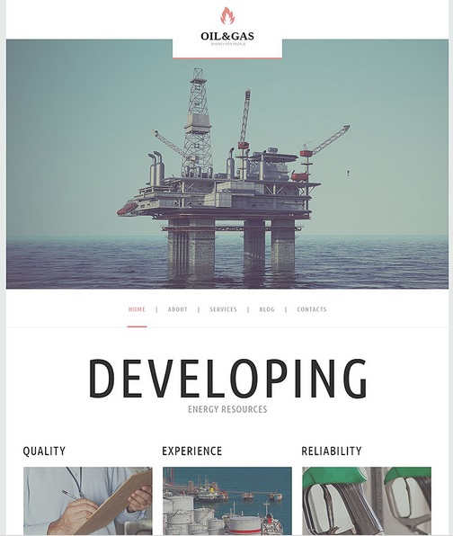 Oil Business WordPress Template