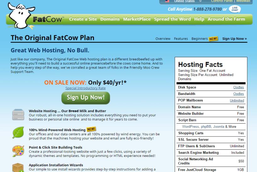 Original FatCow Plan