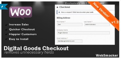 WooCommerce Checkout for Digital Goods