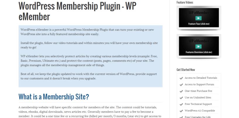 WordPress eMember