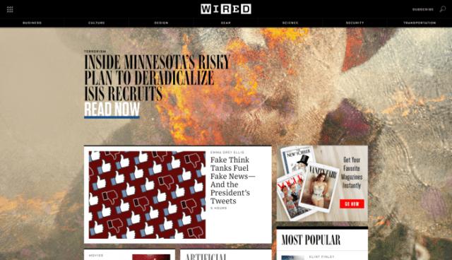 WIRED - Best Tech Websites