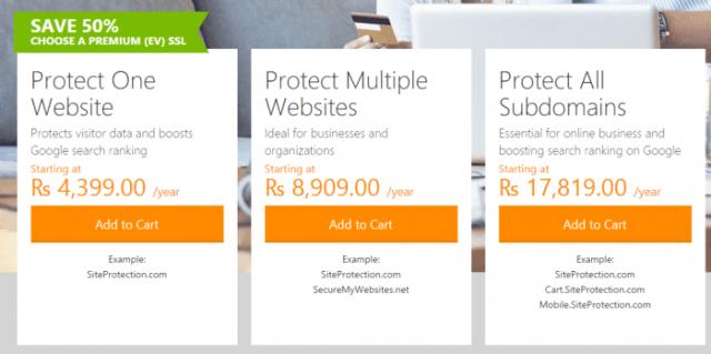 GoDaddy SSL Certificates plans - Godaddy SSL Coupon Code