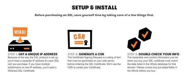 Goaddy SSL Encryption install