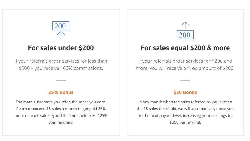 Host1plus Affiliate earnings
