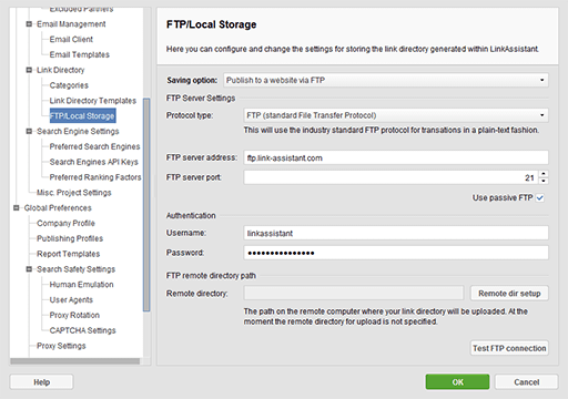 ftp-settings-sm - SEO Powersuite review