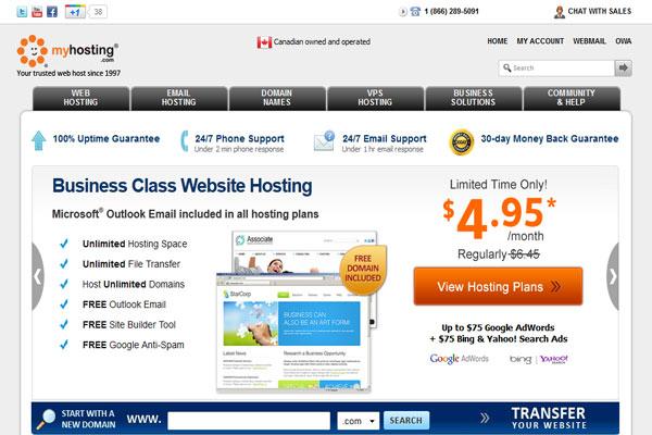 myhosting web hosting service