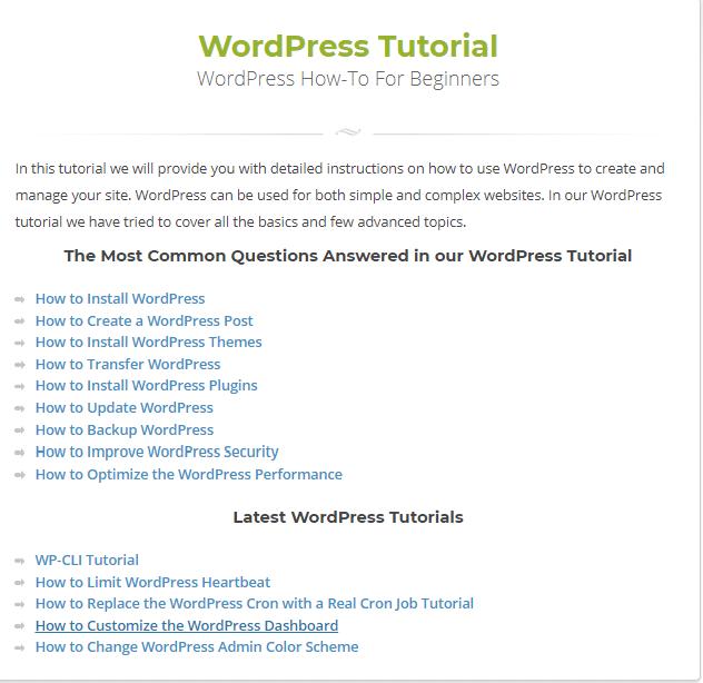 siteground- WP tutorials
