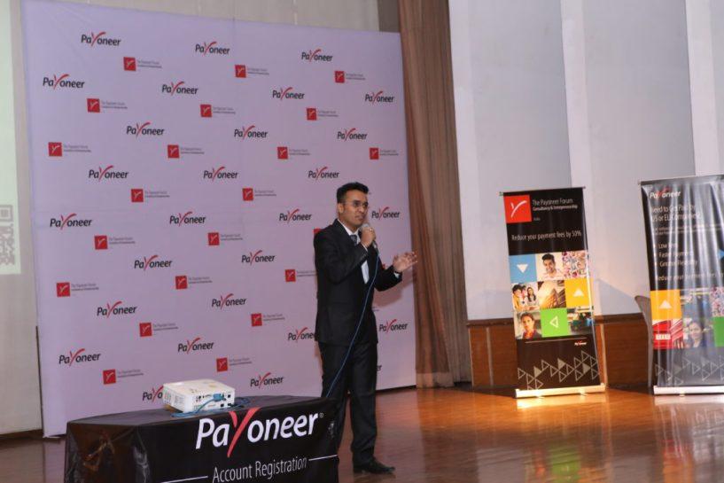 Aditya nath jha from inspire2rise at payoneer forum delhi India