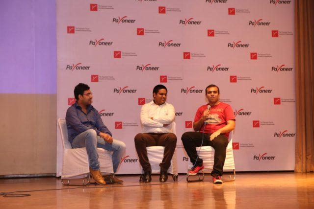 Danish Wadhwa, Siddharth Bhagga , Vipul Taneja at payoneer forum delhi India