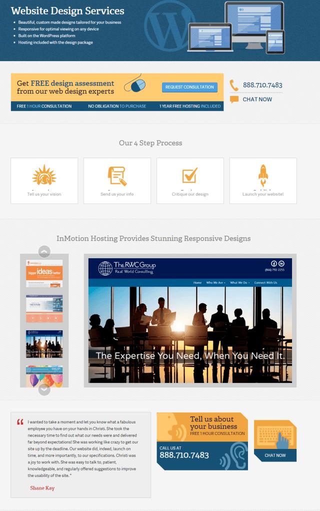 InMotion Hosting Custom Web Design Marketing