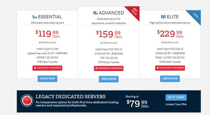 InMotion Hosting Dedicated Servers