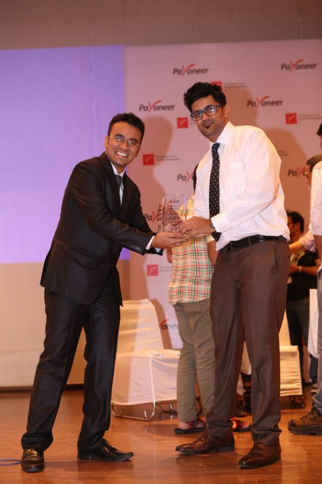 Jitendra Vaswani top blogger in India at payoneer forum delhi India